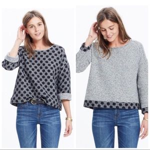 Madewell Reversible Marled Dot Top